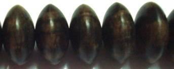 Tiger Ebony Rondelle Shaped Wood Beads
