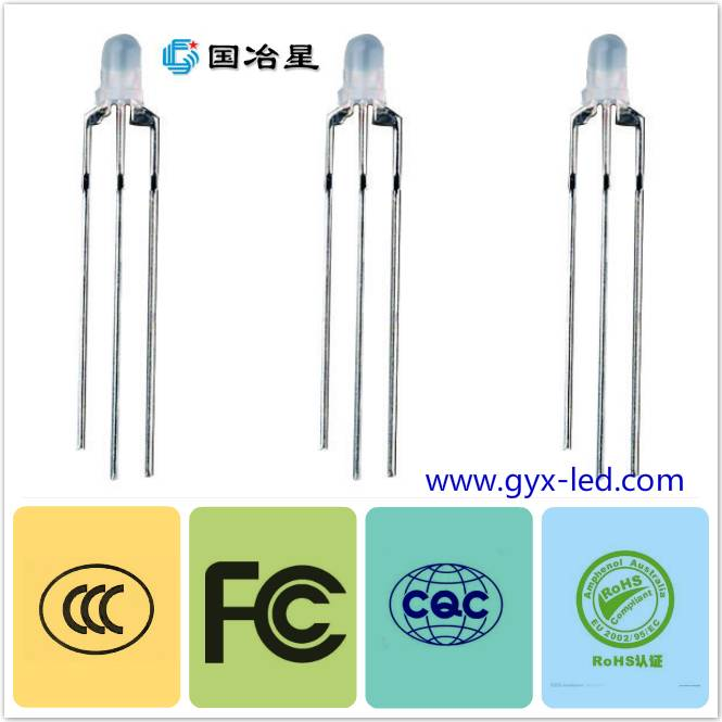 Bi-color, and single color Dip led diode