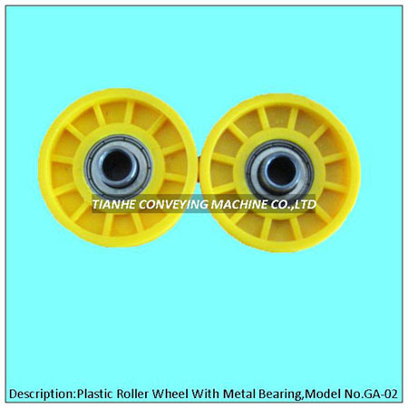 Plastic Roller Wheel with Precision Metal Beaing, Plastic Skate Wheel with Precision Metal Bearing,