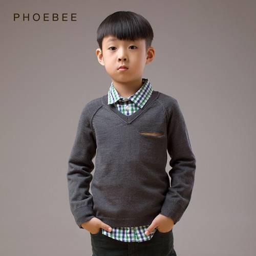 100% Wool Kids Clothes Children's Apparel Boys Sweater