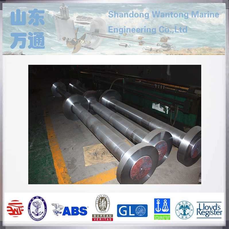 Marine forged steel intermediate shaft for boats