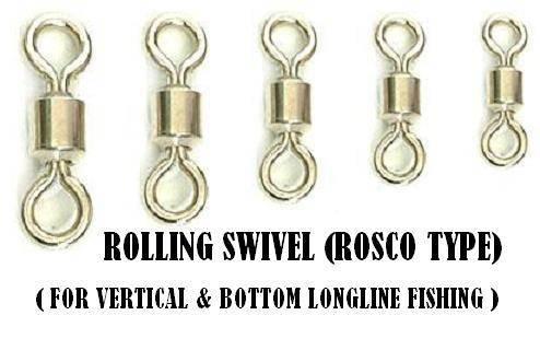 Rosco type rolling swivel