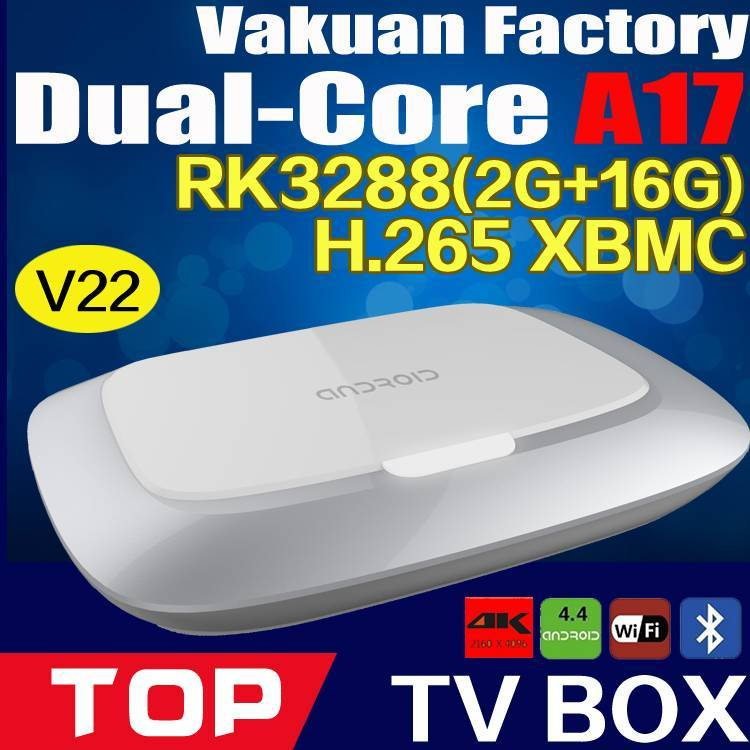 Factory quad core rk3288 android tv box,support XBMC smart tv box with hardware decoding HD265 4K an