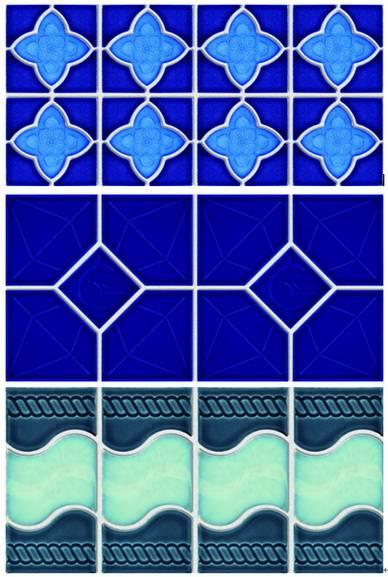 ceramic waist line for swimming pool