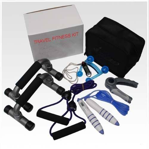 Fitness Kit 6 in 1: Jump rope, hand grip, push-up bar, massage, heart rate monitor etc.