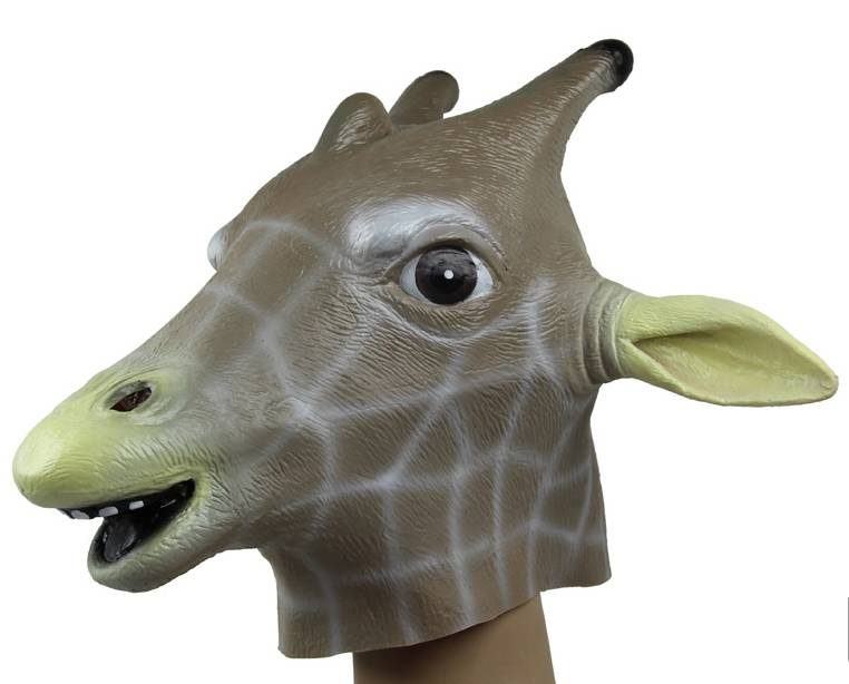 Youtumall Giraffe Mask - Full Face Latex Animal Costume Mask