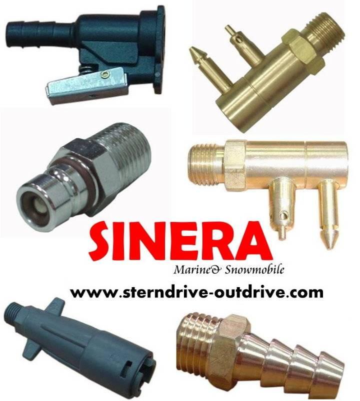 Marine hardware, fuel line connector, fuel connector, tank connector