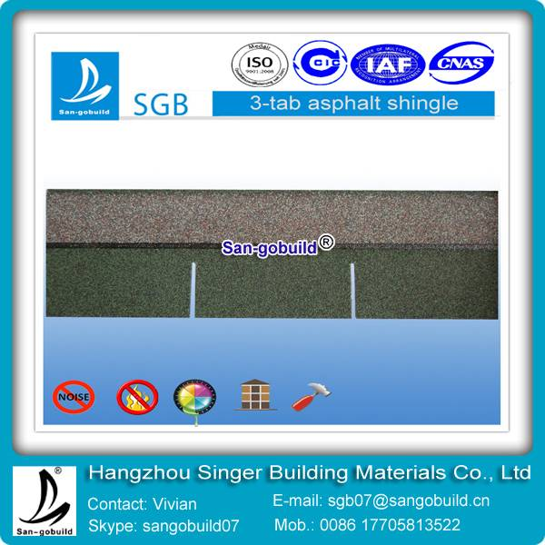 3-tab asphalt shingles for roofing chinese factory