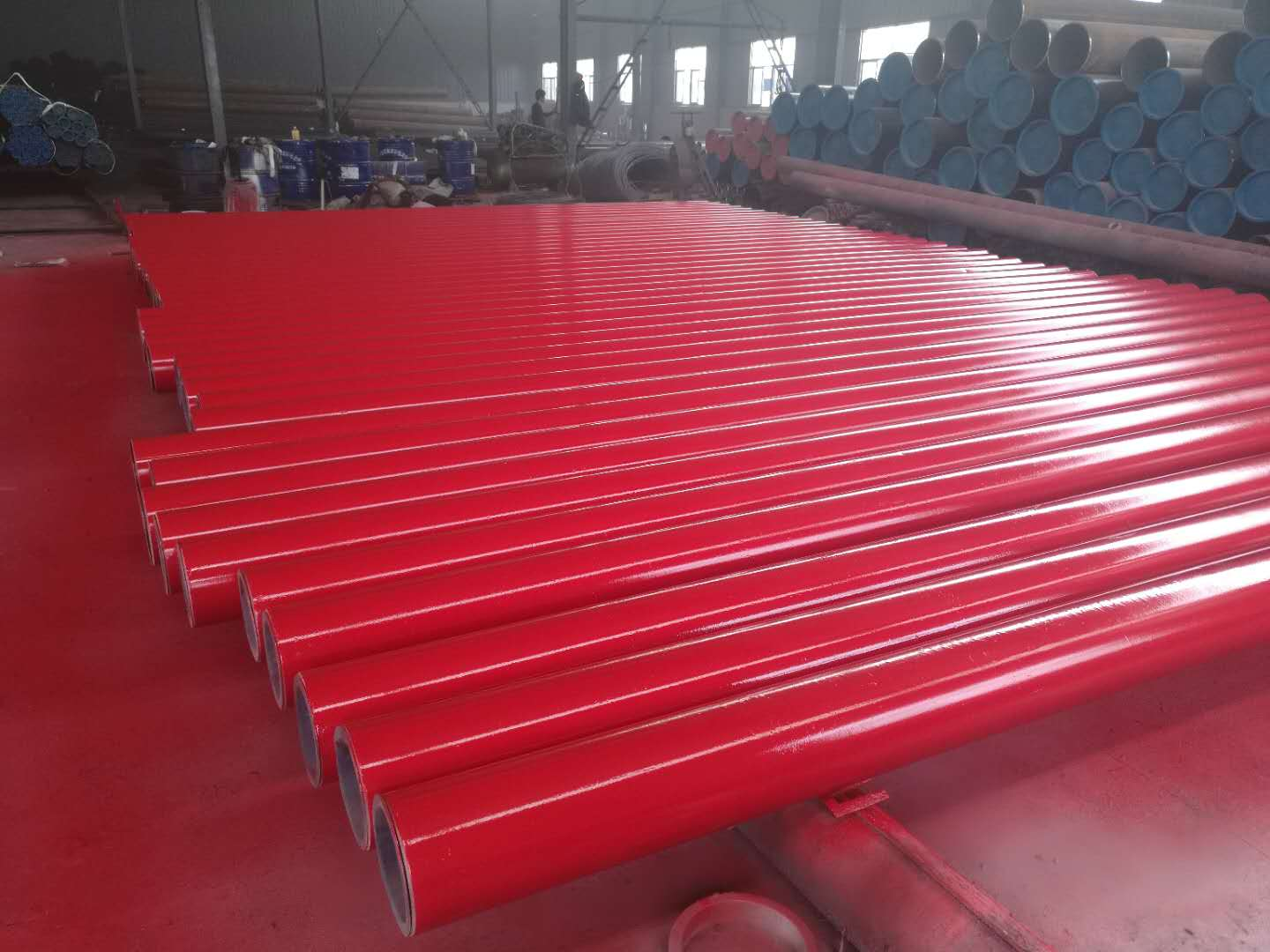 ASTM A53 Gr.B ERW pipes Painting red