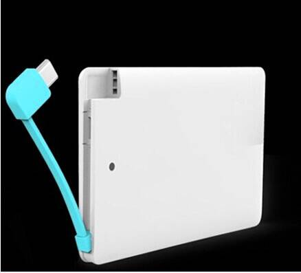 Name Card Wallet Power Bank, 1800mAh, with Micro Cable, for iPhone/iPad