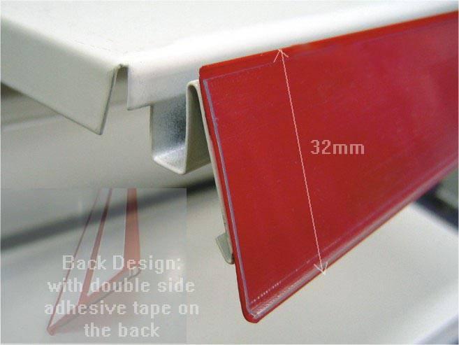 price strip/price tag/data strip/price data holder/label holder/sign holder