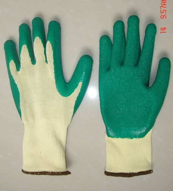 10g Seamless T/C shell with Latex Palm coated glove