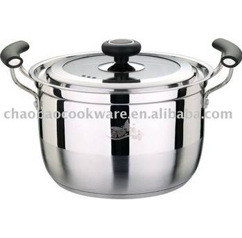 Stainless steel casserole with lid