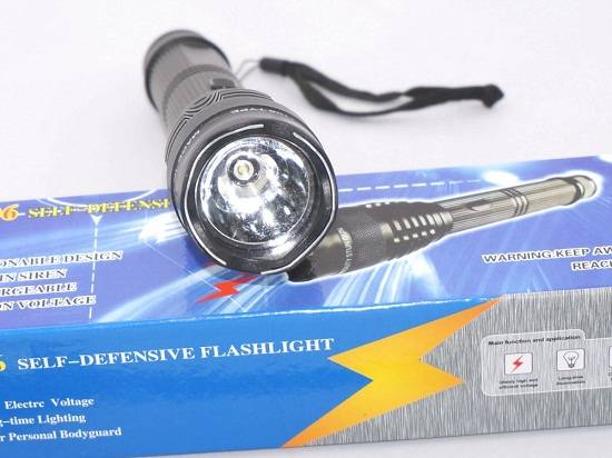 1106 Self-defense Flashlight Torch High-power Impact Security Set