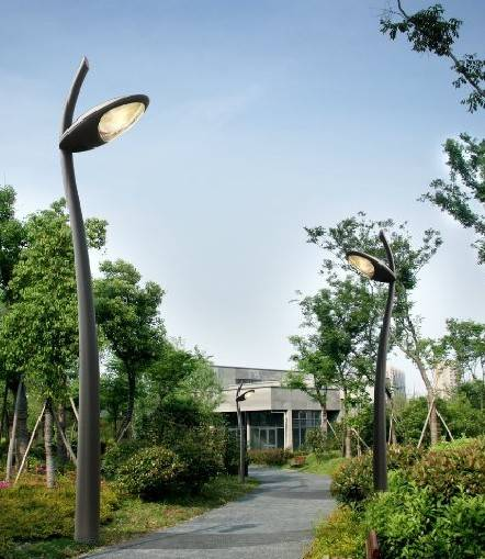 tapered aluminum garden lights custom made