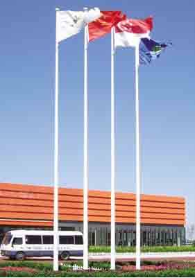 tapered flagpole