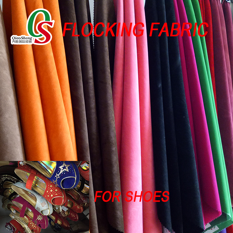 Flocking fabric for bags and shoes