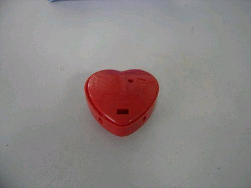 Heart voice recorder for stuffed toy and dolls or others.