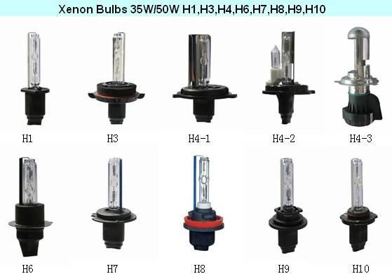 Xenon HID bulbs H1,H3,H4,H7,H8,H9,H10,H11,H13,9004,9005,9006,9007 etc.