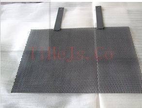 welding the titanium anode mesh