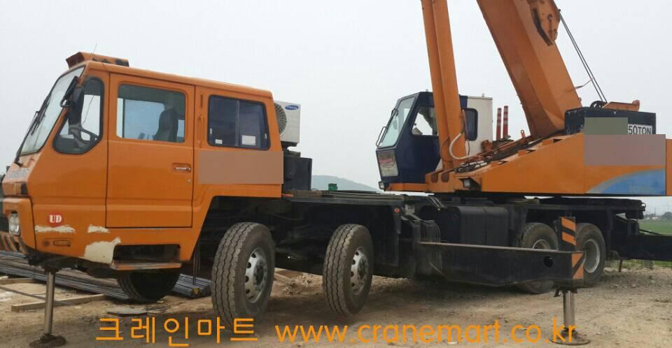 Used 50T SAMSUNG Truck Crane SC50H 1994
