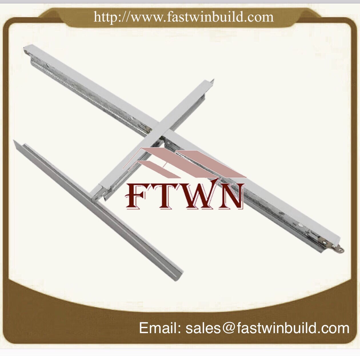 Ceiling T-Grid Channel Suspended Structure Profile Frame Ceiling Steel Suspended Ceiling Main Tee