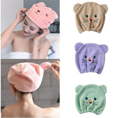 2019 New Good Crystal hygroscopicity and breathability microfiber hair turban quickly dry hair wrap