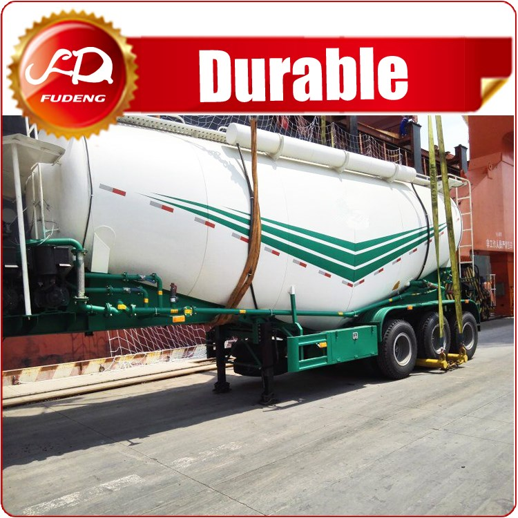 3 Axles 60cbm 80 ton Silo Bulker Cement Tank Trailer Carrier Reinforced Steel Material