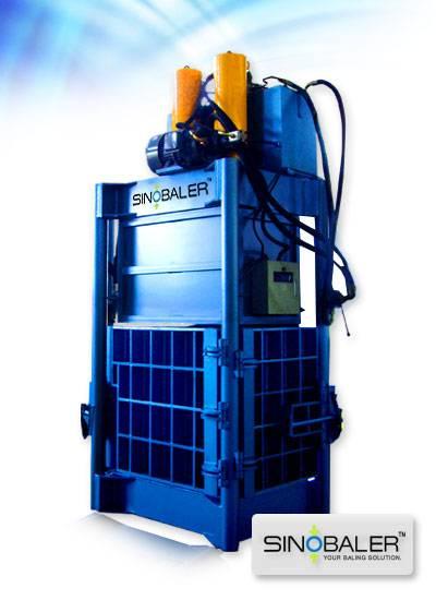 Heavy Duty Dual-ram Baler,Coconut Fiber/Coir Baler,Sinobaler Hydraulic Press,Vertical Baling Press,