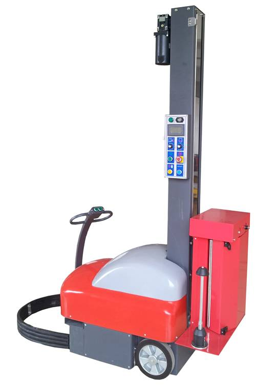Wroker stretch wrapping machine