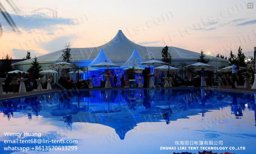 Liri Tent 20x40m aluminum frame mix tent in Romania