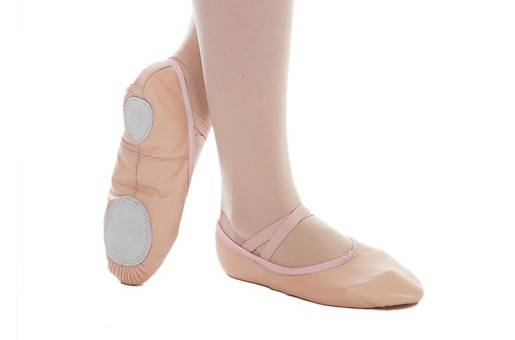 Children and adult soft leather dance ballet shoes