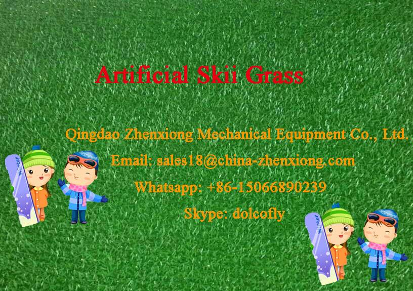 Plastic turf mat machine