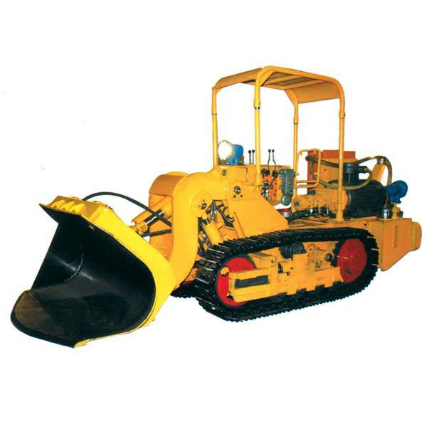 Side dumping rock loader