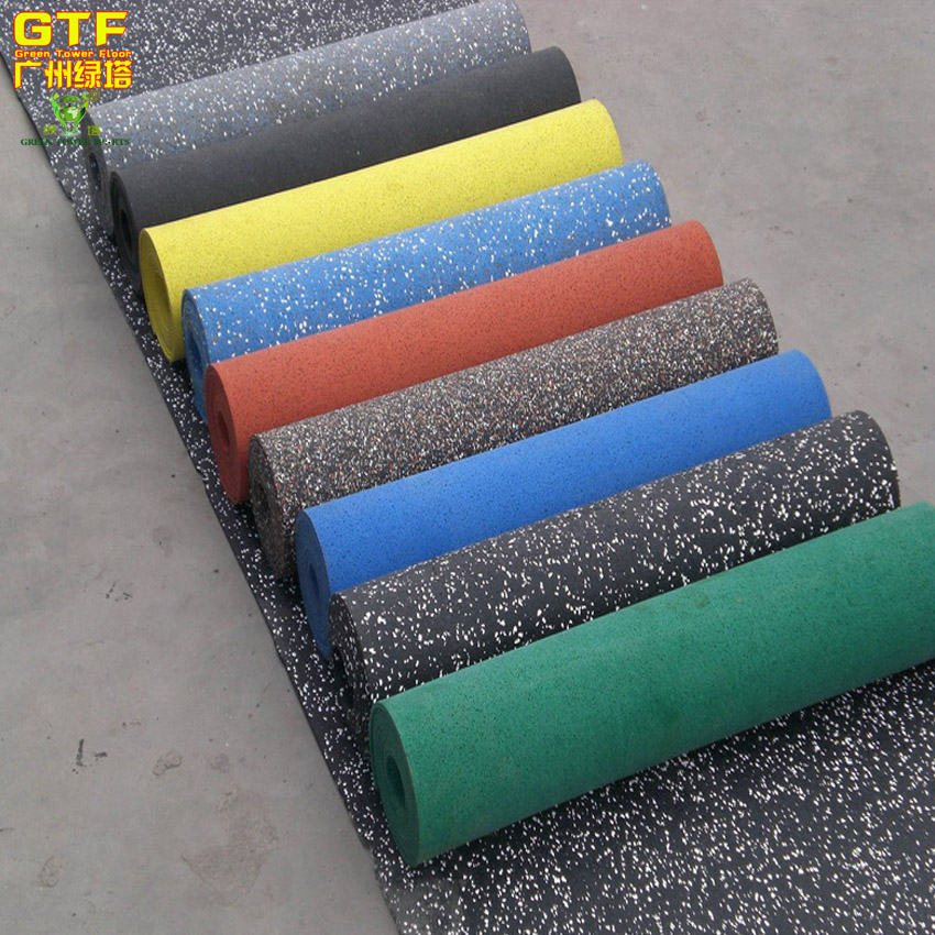 12mm Thick Gym Rubber Flooring In Roll