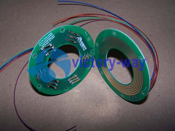 Electric PCB Slip Ring/2 Parts/Flat/Through Hole/Pancake Type Manufacture in China