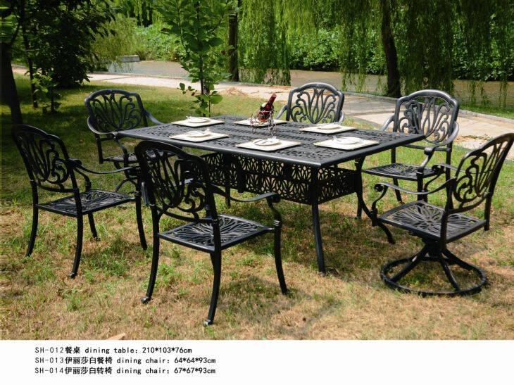 Patio die cast aluminum garden sets