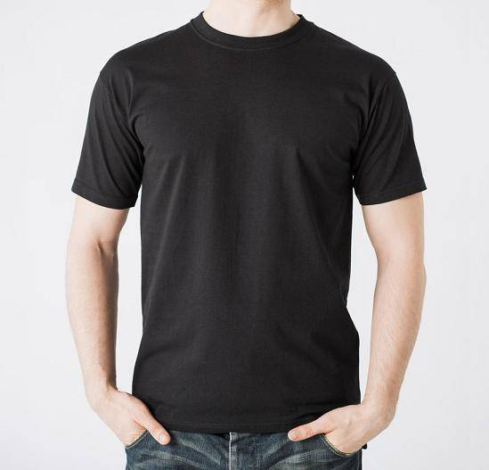 Mens short sleeve blank black t shirt