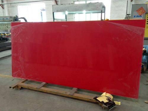 China Red quartz atone slab for countertop