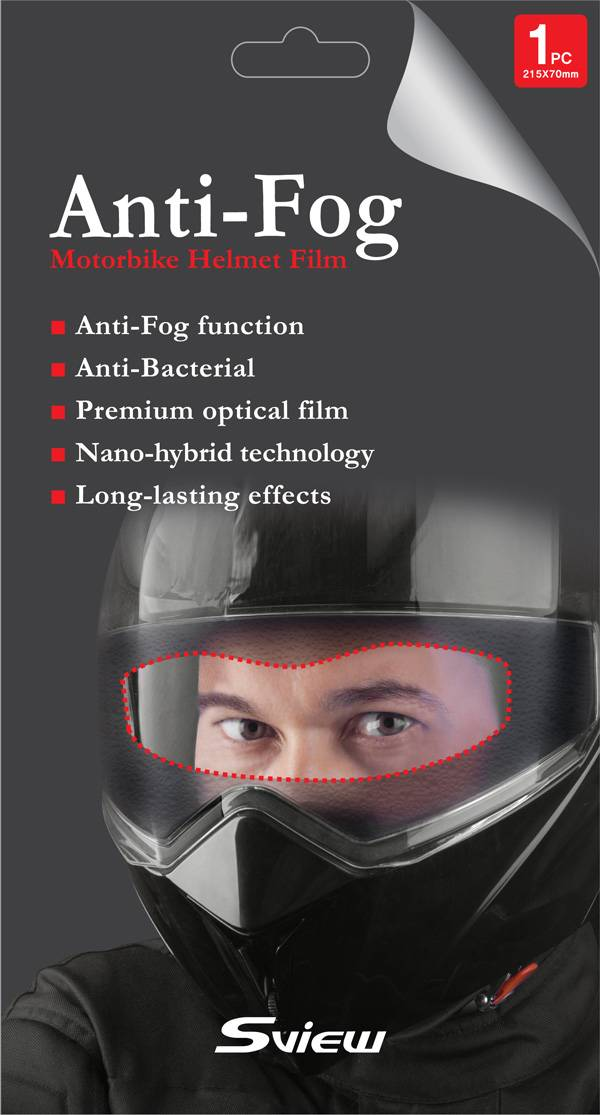Anti-Fog film for helmet