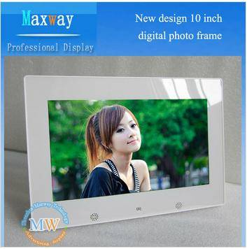 New design led digital frame 10 inch