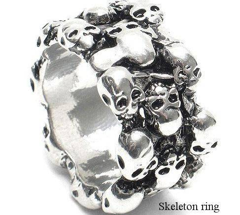 Halloween Christmas New year Festivals gifts Holidays present Skeleton head ring