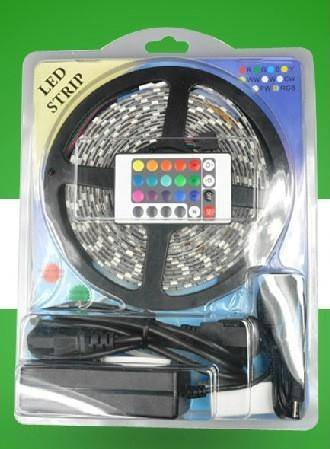 LED Strip Light RGB Waterproof 5050 150/300LEDs per Meter with 24/44keys Remote Controller