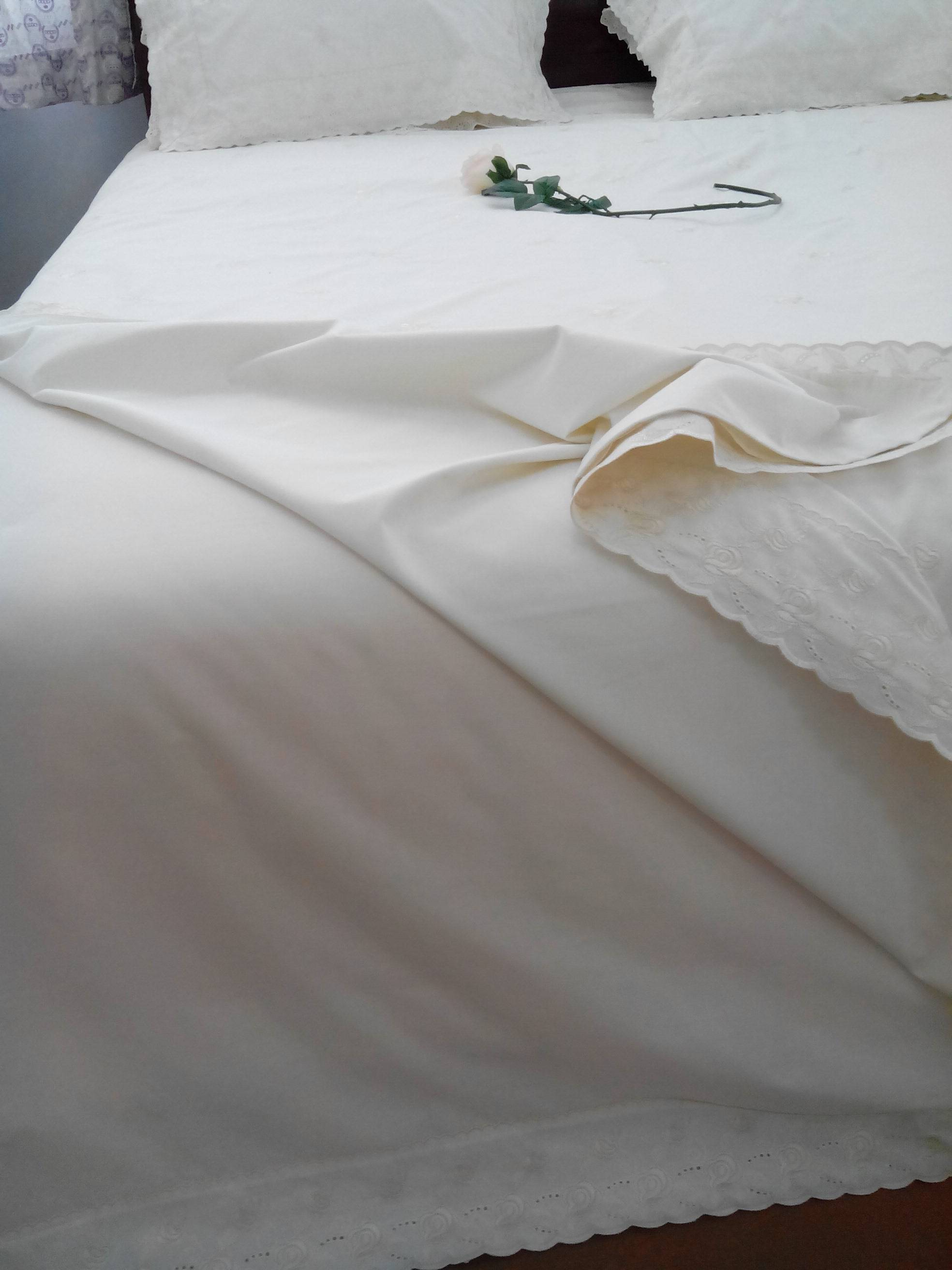 Bed skirt Embroidered sheet , cover ,pillow case