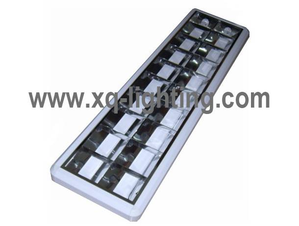 round corner 4x18w office grille lamp with T8 lamp