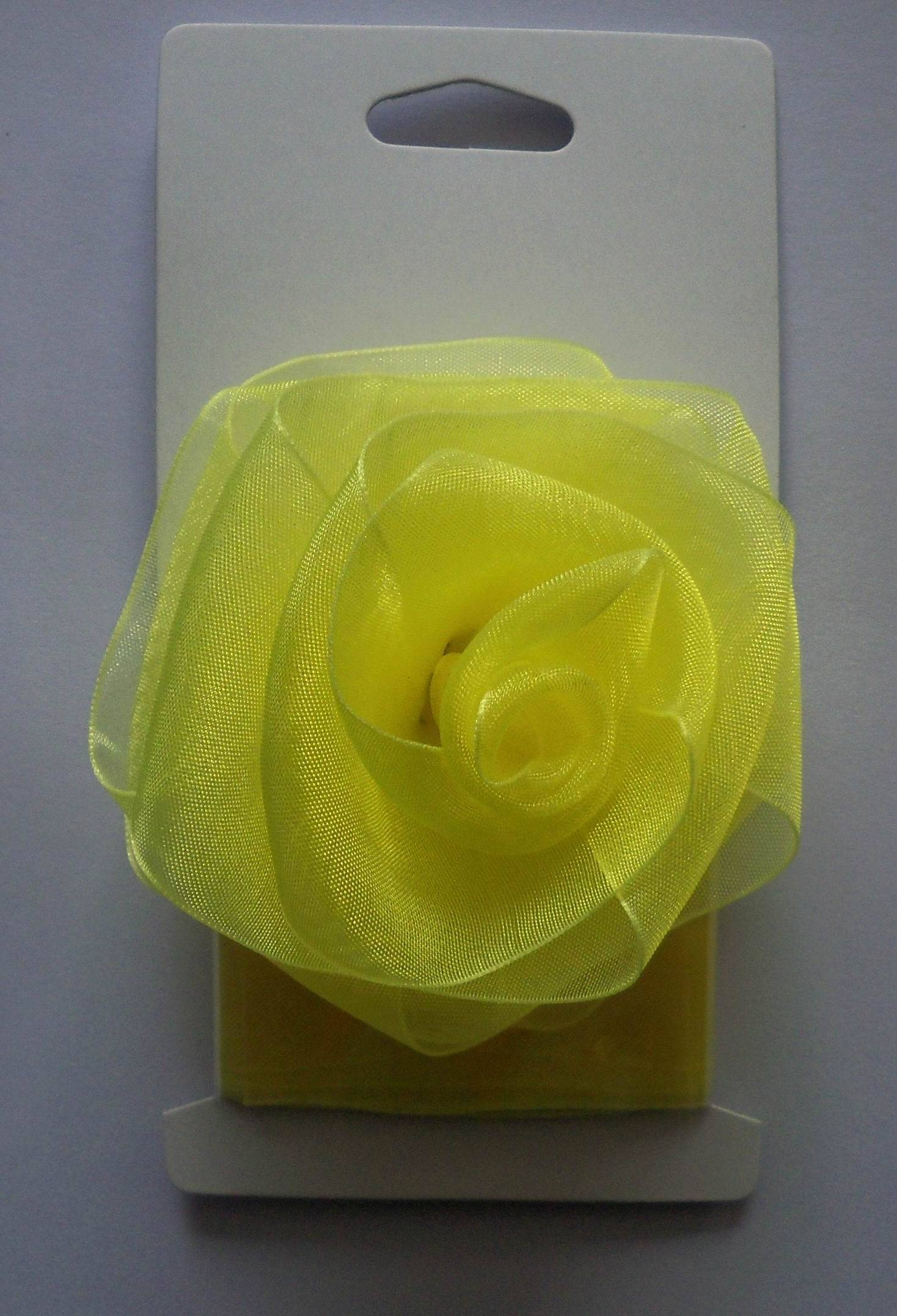a yellow rose bow with a same ribbon 2meters in one card