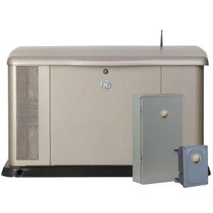 GE 20,000-Watt Generator System with Symphony II Whole House 200-Amp Transfer Switch