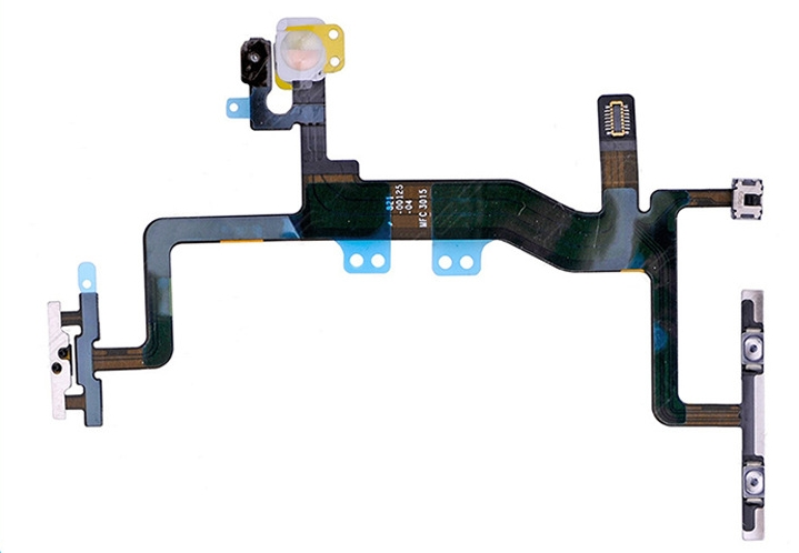 Original Power On Off Flex & Volume Button Switch Flex Cable for iPhone 6S 4.7