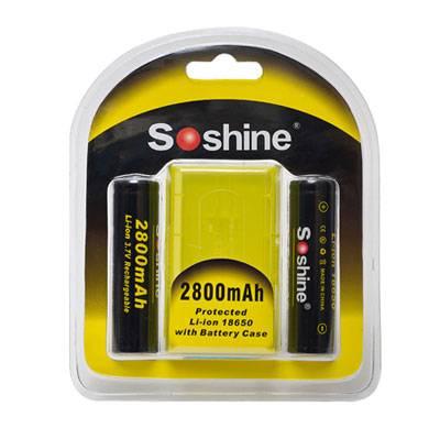Soshine 18650 Li-ion 2800mAh 3.7V Protected Battery