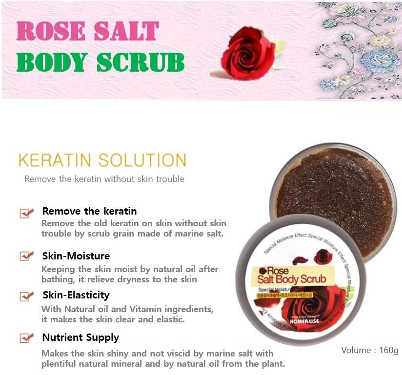 HOMEROSE Rose Salt Body Scrub